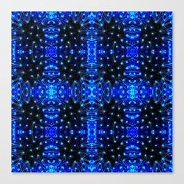 Sparkling Blue Turquoise Pattern Canvas Print
