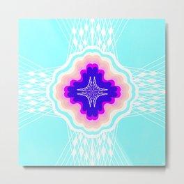 chakra, sky blue Metal Print