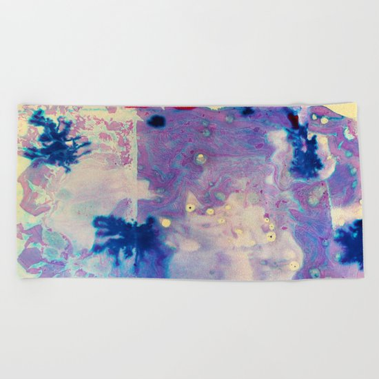 Psychedelic Vibes Beach Towel