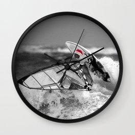 surf santa - wind surf Wall Clock