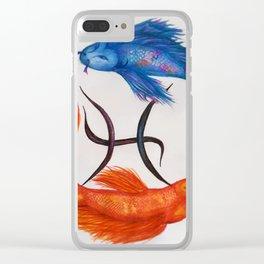 Piscean Koi Clear iPhone Case