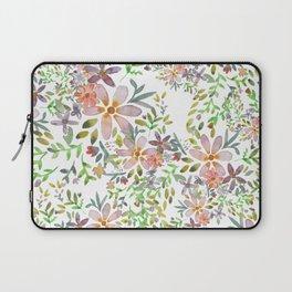 Blooming garden watercolor Laptop Sleeve