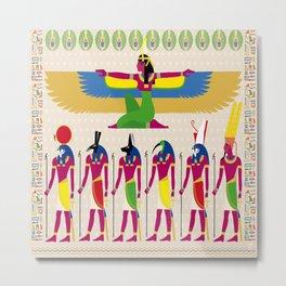 EYGPTIAN GODS Metal Print