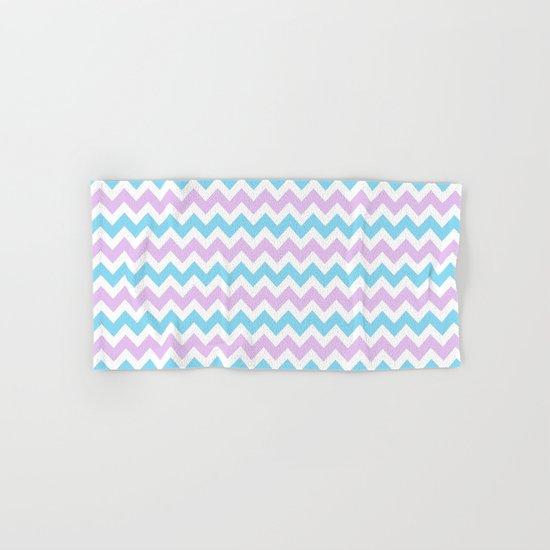 Light Blue, Lilac & White Chevron Pattern by nlmiller07art