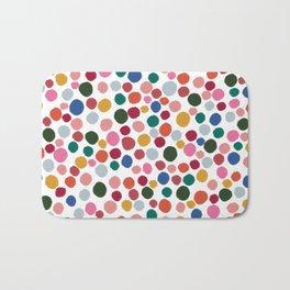 confetti rainbow dots Bath Mat