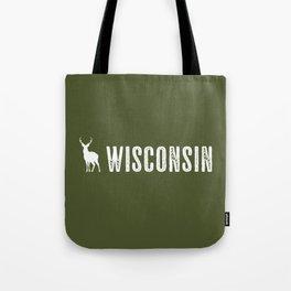 Deer: Wisconsin Tote Bag