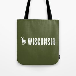 Deer: Wisconsin Tote Bag