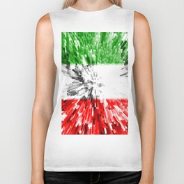 Extruded Flag of Italy Biker Tank