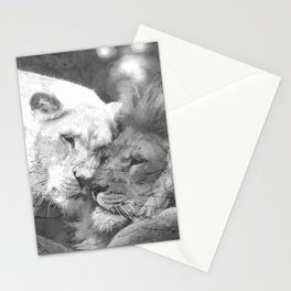 Lion in Love Valentine's Day Stationery Cards
