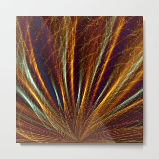 Bronze Sea-grass Metal Print