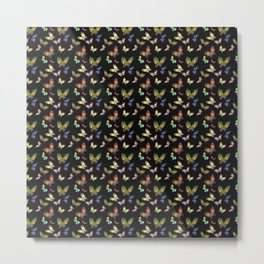 Pattern Buttefly Metal Print