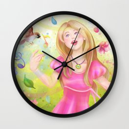 Colorful Spring Singer Wall Clock
