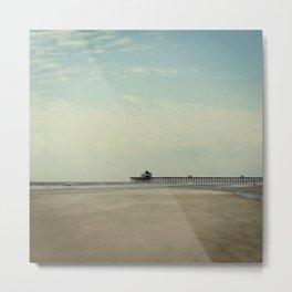 Folly Beach Pier Metal Print