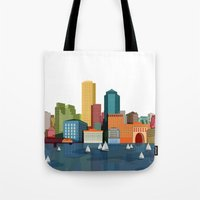 boston Tote Bags featuring Boston  by GoFe