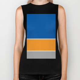 Blue Orange Grey Biker Tank