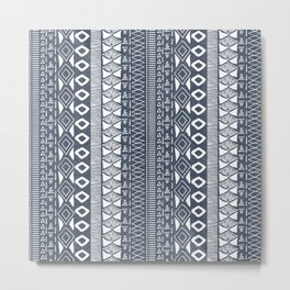 Adobe in Navy Blue and White Metal Print