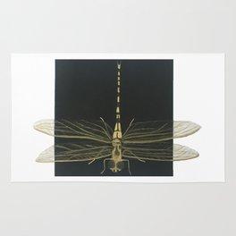 Golden Dragonfly Rug