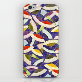 Oriental parasol pattern iPhone Skin