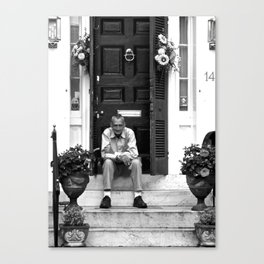 The Captain Needs a Smoke Canvas Print