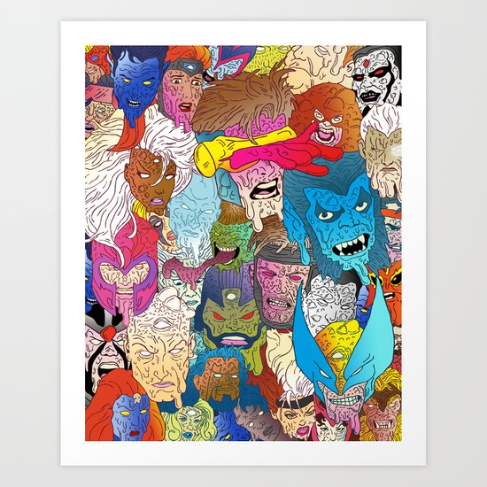 Mutated Mutants Art Print