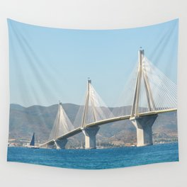 Rio Antirrio Bridge Wall Tapestry