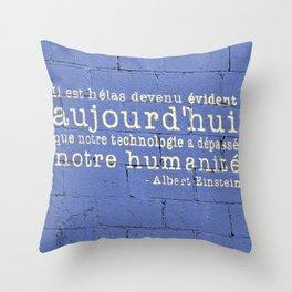 Thus Spake Albert Einstein Throw Pillow