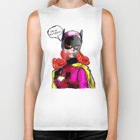 batgirl Biker Tanks featuring Batgirl by Ed Pires