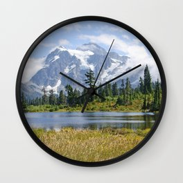 MOUNT SHUKSAN ONE AUGUST DAY Wall Clock
