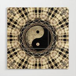 Yin Yang Geometry Mandala V1 Wood Wall Art