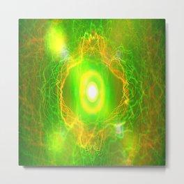 Green Pulsar Radiant Metal Print