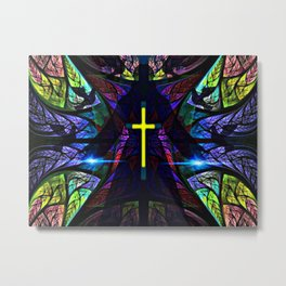 Heavenly Stained Glass Metal Print