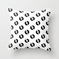 records Throw Pillows featuring Pattern Records by Idan David