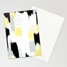 Yellow Abstract Painting Stationery Cards