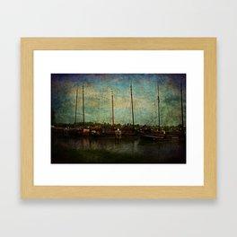 Historical Harbor Woudrichem The Netherlands Framed Art Print