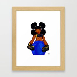 Tough Girl Framed Art Print