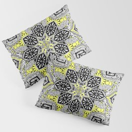 Boho Sunshine Medallion Pattern Pillow Sham