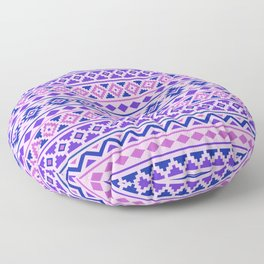 Aztec Essence Pattern II Pinks Blue Purple Floor Pillow