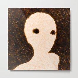 The Alien Face by Raphael Terra Metal Print