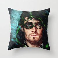 archer Throw Pillows featuring The Archer by Monika Gross