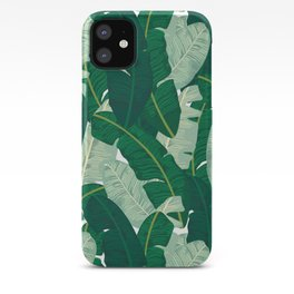Classic Banana Leaves in Palm Springs Green iPhone Case