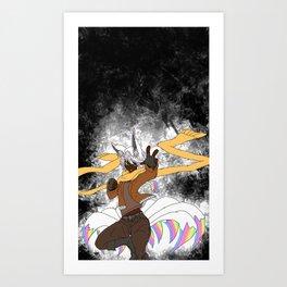 Brawler Kitsune Art Print