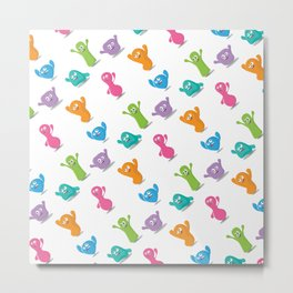 Happy colours cheering -pattern Metal Print