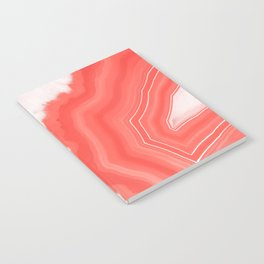 Living Coral Agate Notebook