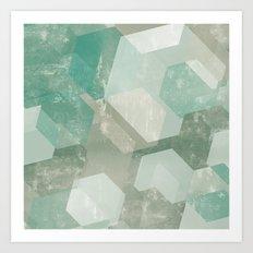 Honeycomb Abstract Art Print