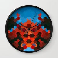 crab Wall Clocks featuring CRAB by ED design for fun