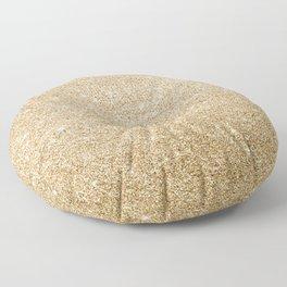 Modern abstract elegant chic gold glitter Floor Pillow