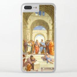 """Raffaello Sanzio da Urbino """"The School of Athens"""", 1509-1510 Clear iPhone Case"""