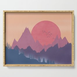 Dreamy Sunset Serving Tray