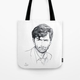 David Tennant as Broadchurch's Alec Hardy (or Gracepoint's Emmett Carver) Etching Tote Bag