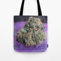 medical Tote Bags featuring Jenny's Kush Medical Marijuana by BudProducts.us